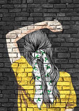 Junge Dame Street Art Graffiti von KalliDesignShop