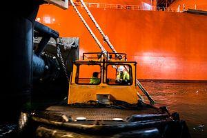 Werken in de haven van Rotterdam van