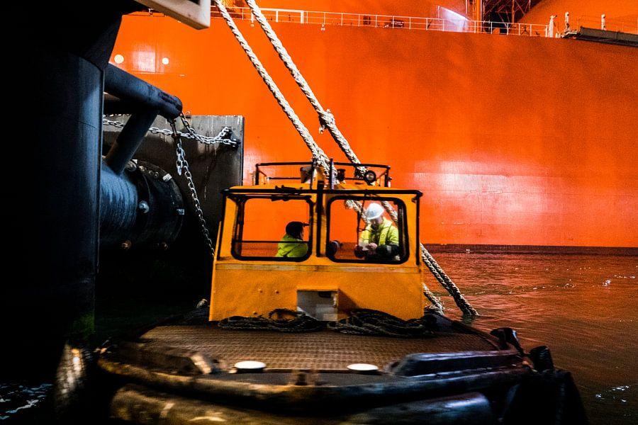 Werken in de haven van Rotterdam