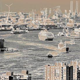 Blokliner Rotterdam - Nieuwe Maas en Europoort van Frans Blok