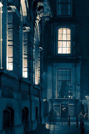 Den Haag bij maanlicht