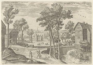 Hans Collaert (I), Blick auf die Hauptstraße von Laeken