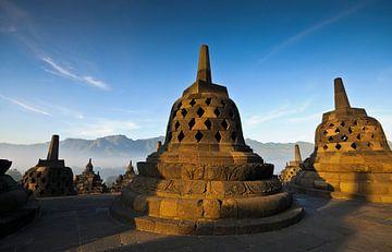 Ochtendlijke sfeer in Borobudur van Andreas Kilian