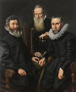 Groepsportret van een onbekend college, Thomas de Keyser,