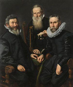 Gruppenbildnis eines unbekannten Kollegs, Thomas de Keyser,