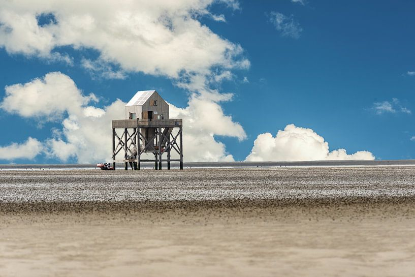 Onderzoekstation op de Waddenzee van Brian Morgan