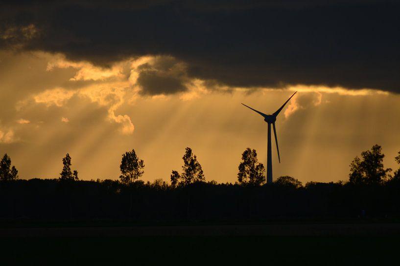 Windmolen voor Jakobsladders van Hanneke Duifhuize
