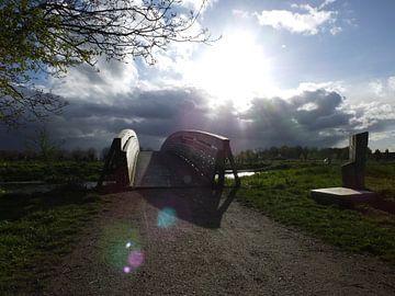 zonsondergang in een natuurlandschap van Pascal Engelbarts