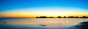 Zonsondergang aan zee van Günter Albers