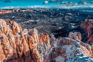 Uitzicht over de canyon van Bryce van Rietje Bulthuis
