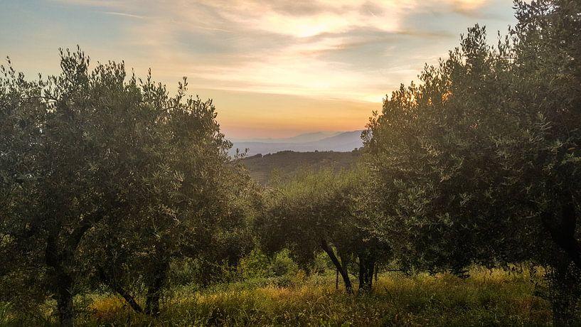 Toscane - Italie Zonsondergang van Erik van 't Hof