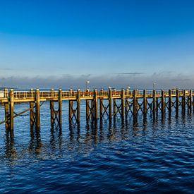 Een pier bij Vlissingen. van Don Fonzarelli