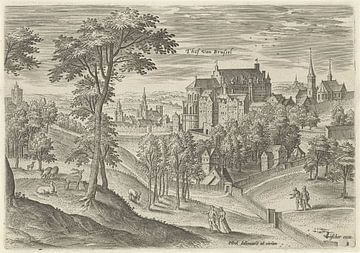 Hans Collaert (I), Gezicht op het slot Hof van Brussel van Atelier Liesjes