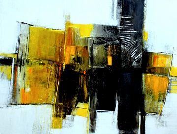 Abstrakt in Honiggelb