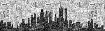 New York Doodle - Panorama von Nele VdM