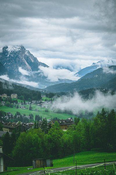 Misty valley in the Dolomites van michael regeer