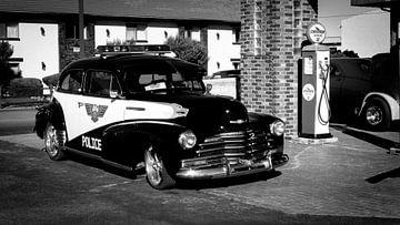 Retro Amerikaanse politie auto van
