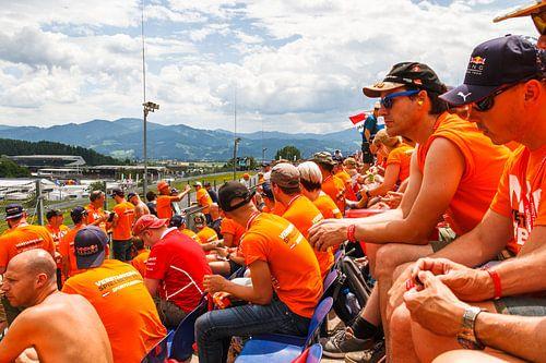 Max Verstappen Tribune tijdens de Grand-Prix van Oostenrijk 2017