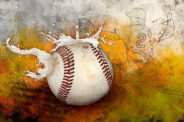 Sport ontmoet Splash - Honkbal - Honkbal van Erich Krätschmer