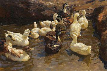 Dem Ufer zu, ALEXANDER KOESTER, 1900 von Atelier Liesjes