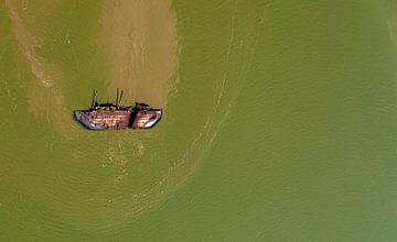 Paramaribo in vogelvlucht van Maarten Verhees