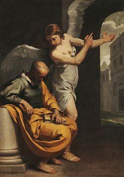 Der Engel, der Joseph den Weg nach Ägypten zeigt, Simone Cantarini