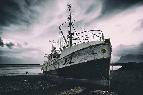 Vervallen boot van