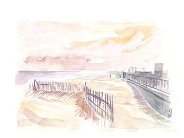 Rockaway Beach in Queens New York van Markus Bleichner