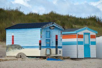 Bemalte Strandkabine von Ad Jekel