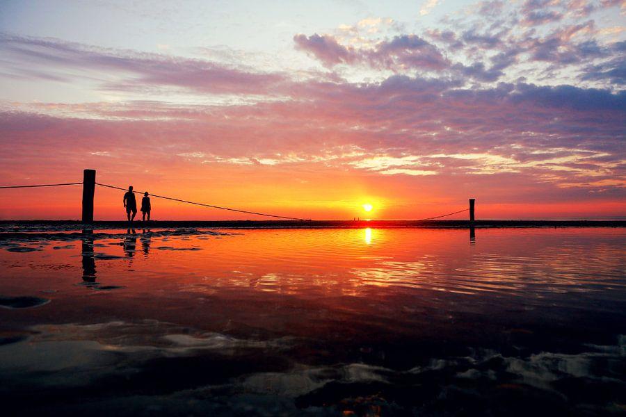 sunset beach Domburg van Els Fonteine