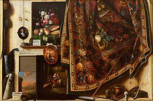 Cornelius Norbertus Gijsbrechts.  A Cabinet in the Artist's Studio van