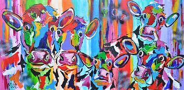 Des vaches curieuses sur Kunstenares Mir Mirthe Kolkman van der Klip