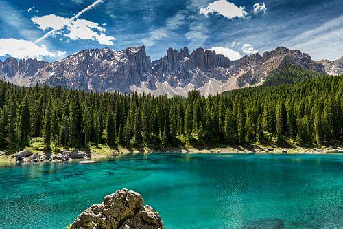 Lago di Carezza - Dolomieten van Bart Hendrix