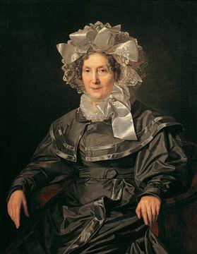De moeder van de kunstenaar, Ferdinand Waldmüller - 1830 van