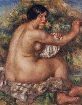 Badende Frau, Akt, die ihren rechten Arm trocknet (großer sitzender Akt), Pierre-Auguste Renoir - 19 von Atelier Liesjes