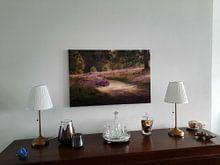 Kundenfoto: Gehen auf der Heide von Tania Perneel, auf leinwand