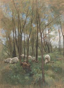 Schafherde im Wald, Anton Mauve