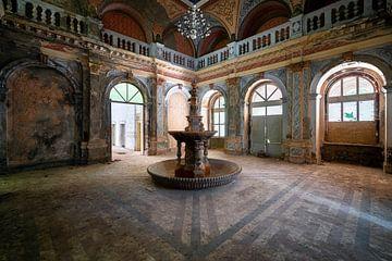 Fontaine abandonnée en décomposition. sur Roman Robroek