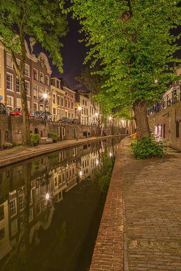 Nieuwegracht in Utrecht in de avond - 7