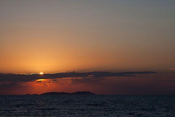 Griekse zonsondergang van Guido Akster
