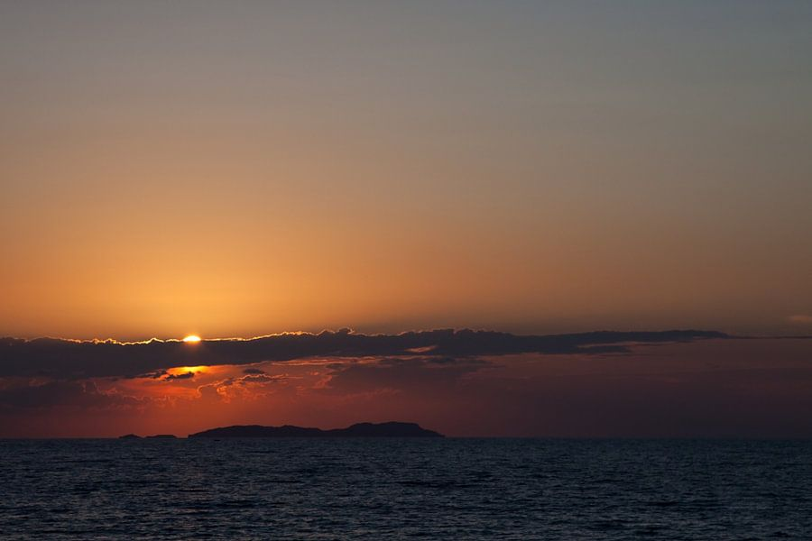 Griekse zonsondergang