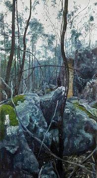 Blaue Erde und Natur von KB Prints