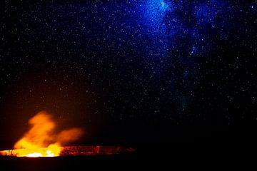 Milchstraße über dem Kilauea