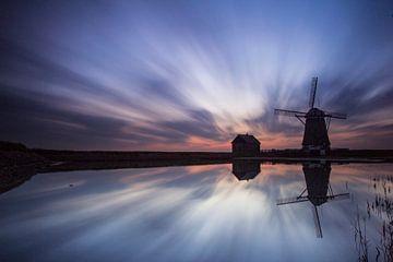 Windmühle Der Norden auf Texel von Beschermingswerk voor aan uw muur