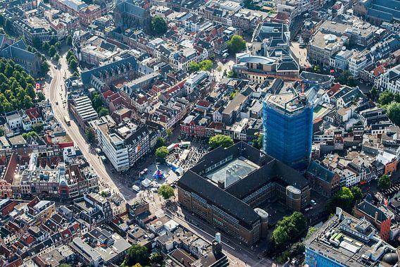 Luchtfoto van de binnenstad Utrecht