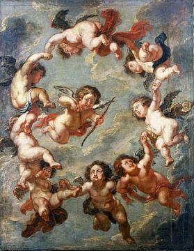 Peter Paul Rubens, Putten - eine Deckendekoration - 1660