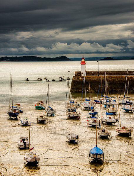 Bretagne,Erquy, haven van Harrie Muis