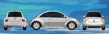 VW Kever in geschilderd van aRi F. Huber