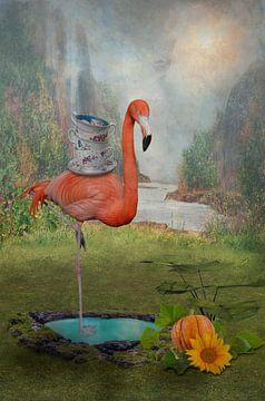 Flamingo als evenwichtig talent van Ursula Di Chito