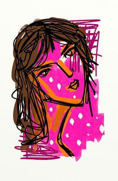Mädchen Rosa 1 von Jolanda Janzen-Dekker